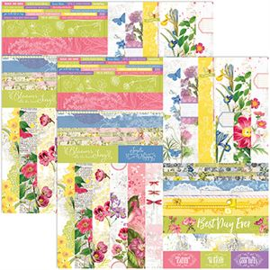 "Picture of Buy one, get one 75% off sale, Floral Flourish by Katie Pertiet 2"" Border Strips - Set 12"